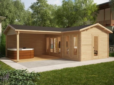 L Shape Corner Studio 18 Gable + Veranda