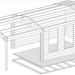 Studio Cabin 12 Gable + Canopy