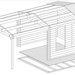Studio Cabin 10 Gable + Canopy